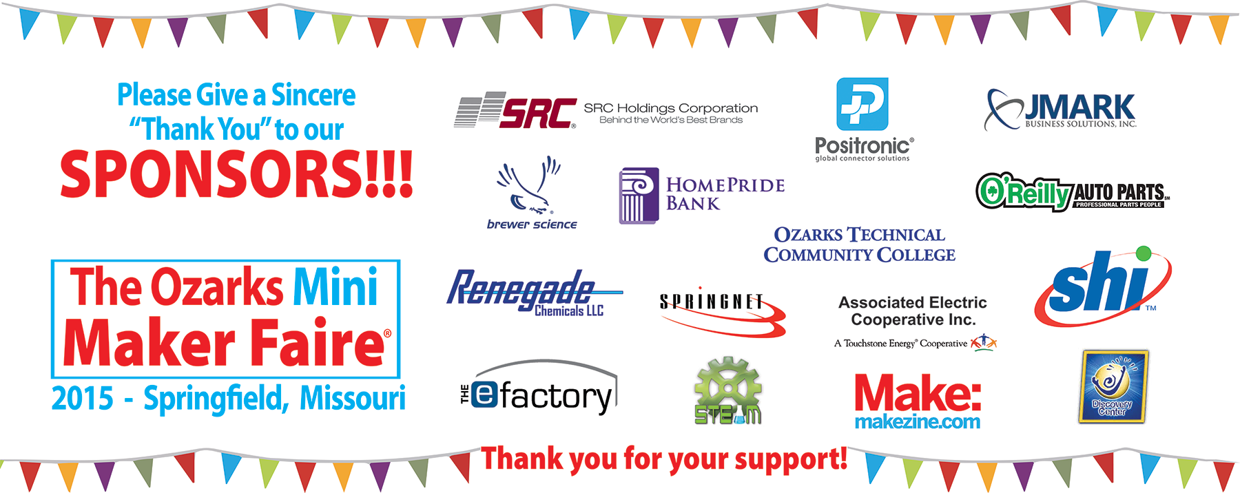 sponsors the ozarks mini maker faire