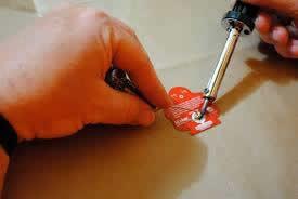 soldering Makey Robot